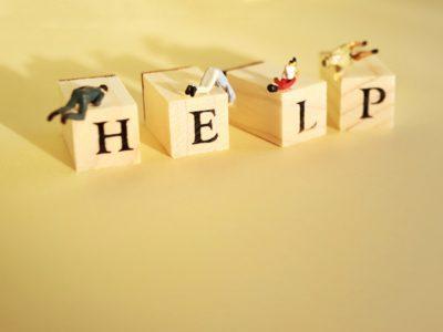ヘルプを求めるイメージ画像